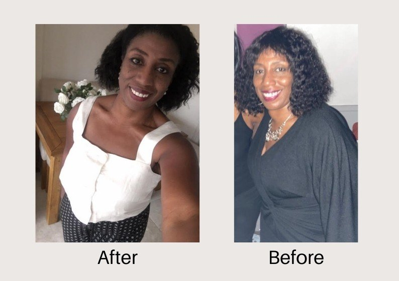 Pilates weight loss before and after photos of a Shapes member Jacqui